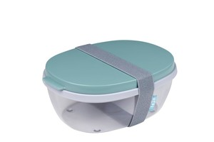 Salatbox Ellipse - Nordic green
